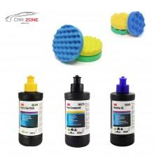 3M Ultrafina SE + Extra Fine Plus + Fine Compound (3x 250 gr) + 6x 3M Polishing pads (75 & 150 mm)