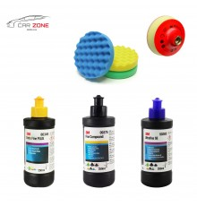 3M Ultrafina SE + Extra Fine Plus + Fine Compound (3x 250 gr) + 3x 3M pads