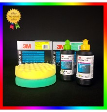3M Extra Fine Plus + Fast Cut Plus ( 2 x 250 gr) + 2x 3M polishing pads (150 mm)