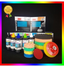 3M Ultrafina SE + Extra Fine Plus + Fast Cut Plus ( 3 x 250 gr) + 3 polishing pads (150 mm)